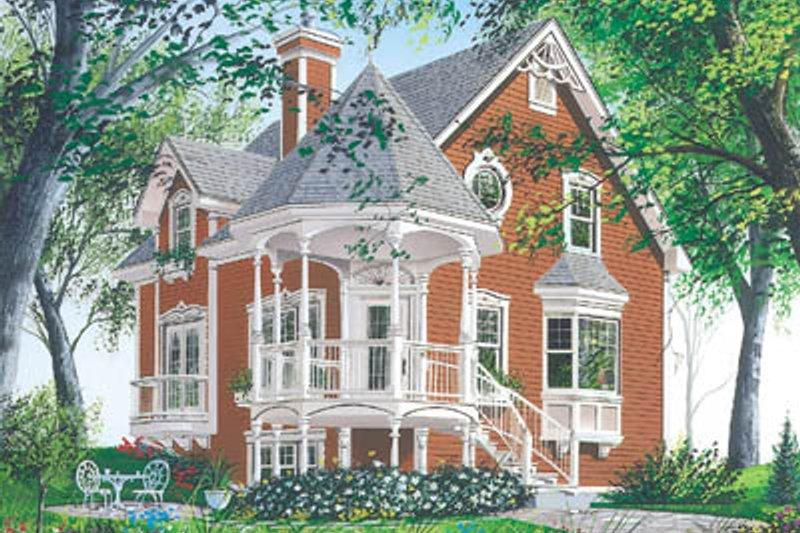 Victorian Exterior - Front Elevation Plan #23-219 - Houseplans.com