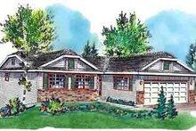 House Blueprint - Ranch Exterior - Front Elevation Plan #18-168