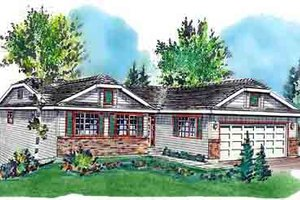 Home Plan - Ranch Exterior - Front Elevation Plan #18-168