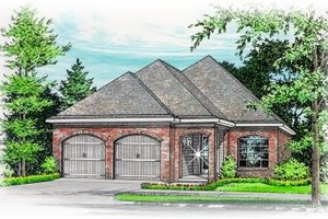Southern Exterior - Front Elevation Plan #15-245