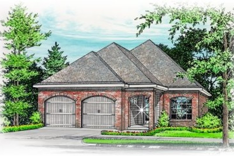 Southern Style House Plan - 3 Beds 2 Baths 2022 Sq/Ft Plan #15-245 Exterior - Front Elevation