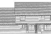 Traditional Style House Plan - 4 Beds 2.5 Baths 2370 Sq/Ft Plan #70-376 Exterior - Rear Elevation
