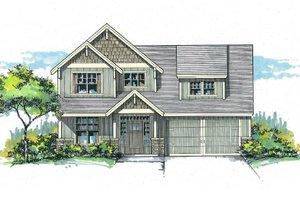 Craftsman Exterior - Front Elevation Plan #53-570