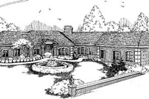 Ranch Exterior - Front Elevation Plan #60-595