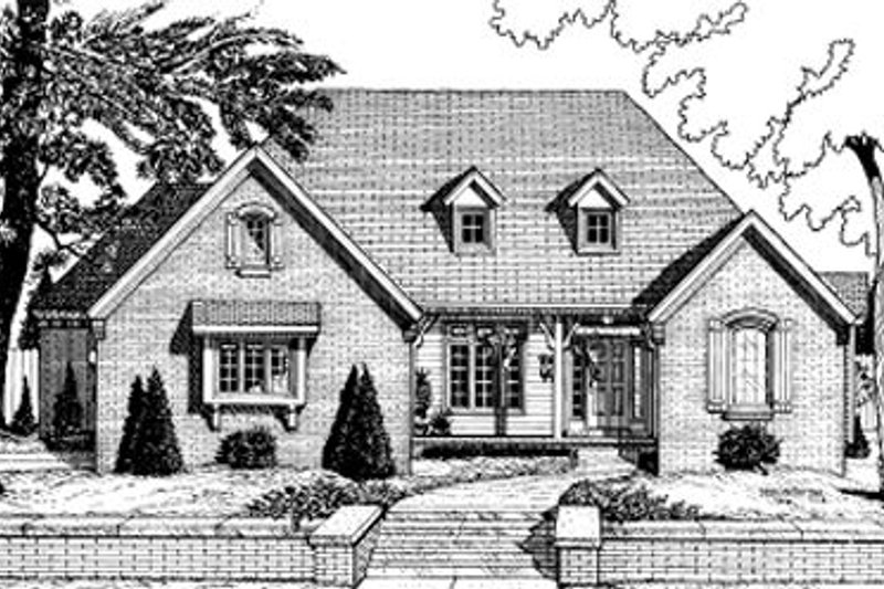 Traditional Exterior - Front Elevation Plan #20-731 - Houseplans.com