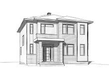 House Plan Design - Contemporary Exterior - Front Elevation Plan #23-2307