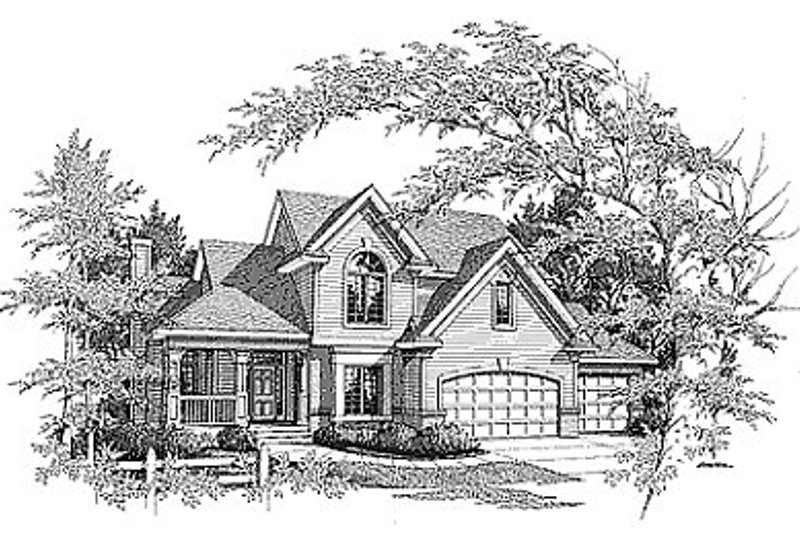 Traditional Exterior - Front Elevation Plan #70-330 - Houseplans.com