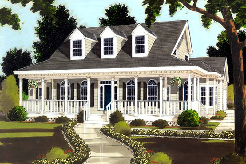 Home Plan - Southern Exterior - Front Elevation Plan #3-216