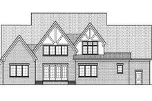 Tudor Exterior - Rear Elevation Plan #413-811