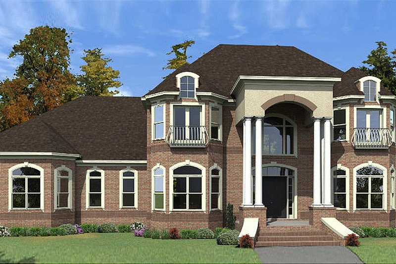 Colonial Exterior - Front Elevation Plan #63-426