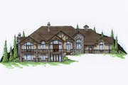 Traditional Style House Plan - 5 Beds 6 Baths 3117 Sq/Ft Plan #5-338 Exterior - Front Elevation