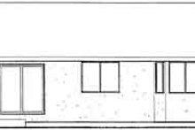 Exterior - Rear Elevation Plan #126-123