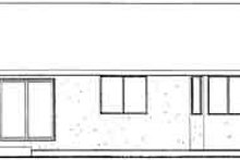 Exterior - Rear Elevation Plan #126-123