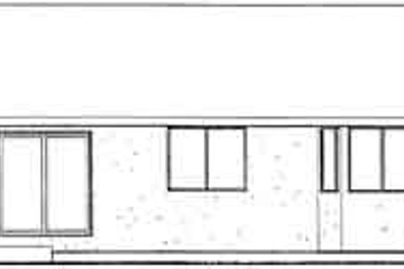 Exterior - Rear Elevation Plan #126-123 - Houseplans.com
