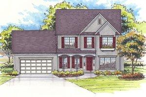 Architectural House Design - Farmhouse Exterior - Front Elevation Plan #435-4