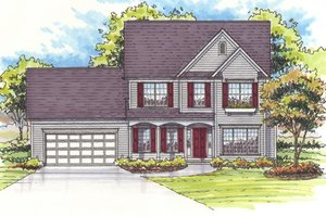 Dream House Plan - Farmhouse Exterior - Front Elevation Plan #435-4