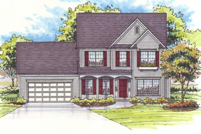 Dream House Plan - Farmhouse Exterior - Front Elevation Plan #435-4