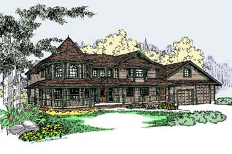 Victorian Exterior - Front Elevation Plan #60-568 - Houseplans.com
