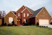 European Style House Plan - 3 Beds 2.5 Baths 3108 Sq/Ft Plan #17-293 Exterior - Front Elevation
