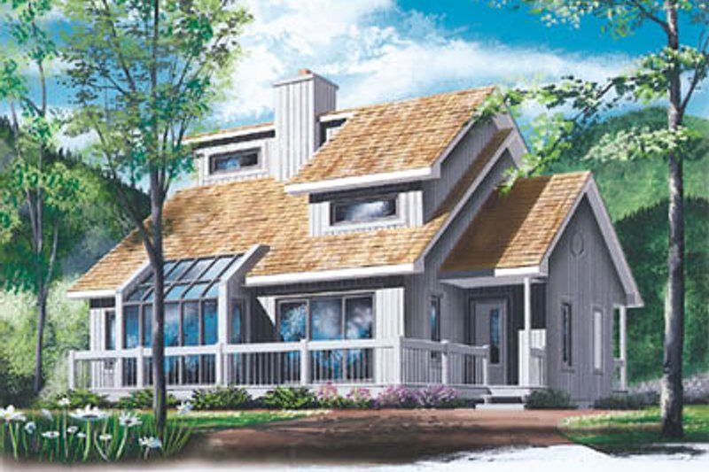 House Plan - 3 Beds 2 Baths 1550 Sq/Ft Plan #23-217 Exterior - Front Elevation