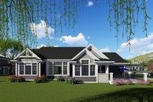 Ranch Exterior - Rear Elevation Plan #70-1420