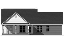 Dream House Plan - Country Exterior - Rear Elevation Plan #21-319