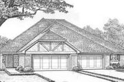 Tudor Style House Plan - 2 Beds 2 Baths 2785 Sq/Ft Plan #310-447 Exterior - Front Elevation