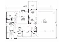 Traditional Floor Plan - Main Floor Plan Plan #419-115