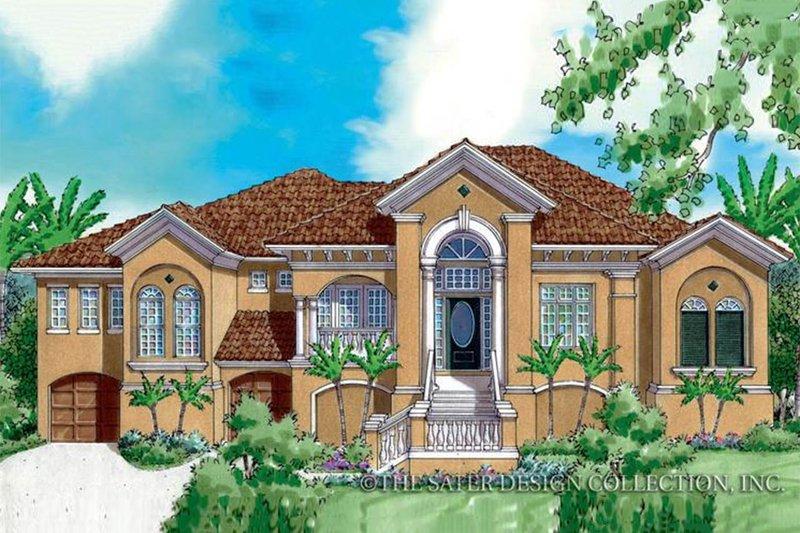 House Plan Design - Mediterranean Exterior - Front Elevation Plan #930-172