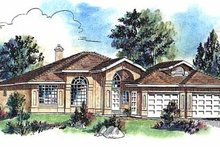 House Blueprint - European Exterior - Front Elevation Plan #18-148