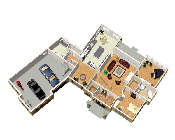 Traditional Floor Plan - Main Floor Plan Plan #25-4472