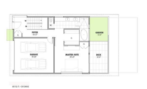 Modern Floor Plan - Main Floor Plan Plan #469-1