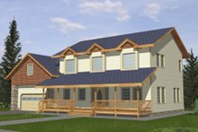 Dream House Plan - Country Exterior - Front Elevation Plan #117-282