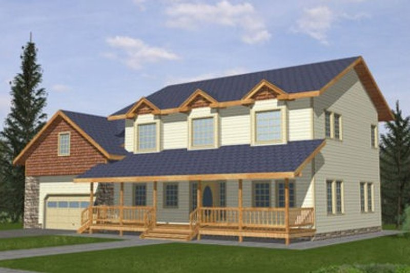 Home Plan - Country Exterior - Front Elevation Plan #117-282