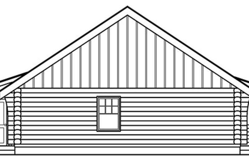 Log Exterior - Other Elevation Plan #124-390 - Houseplans.com