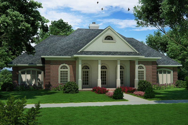 Traditional Style House Plan - 3 Beds 2 Baths 2240 Sq/Ft Plan #45-599 Exterior - Front Elevation