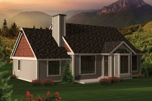 Dream House Plan - Ranch Exterior - Rear Elevation Plan #70-1044