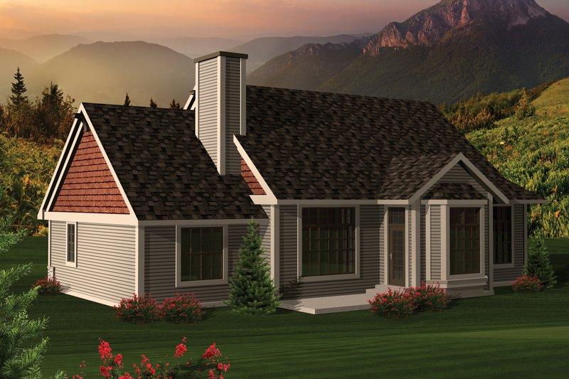 Ranch Exterior - Rear Elevation Plan #70-1044 - Houseplans.com