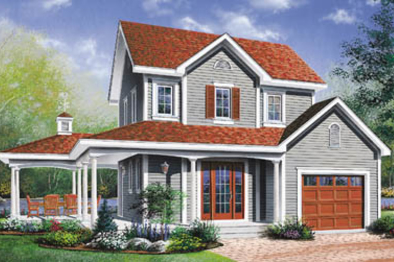 Country Exterior - Front Elevation Plan #23-2164 - Houseplans.com