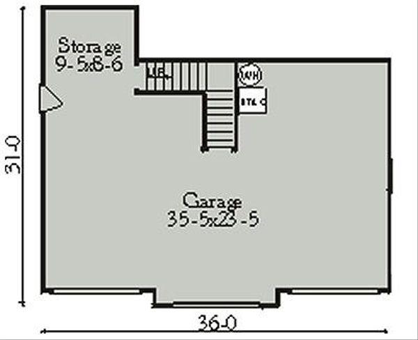 Country Floor Plan - Main Floor Plan Plan #406-301