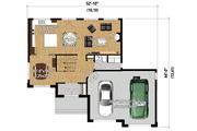 Contemporary Style House Plan - 4 Beds 2 Baths 2145 Sq/Ft Plan #25-4282 Floor Plan - Main Floor Plan