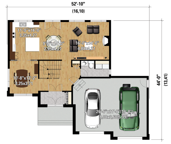Contemporary Floor Plan - Main Floor Plan Plan #25-4282