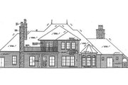 European Style House Plan - 4 Beds 4.5 Baths 4214 Sq/Ft Plan #310-683 Exterior - Rear Elevation