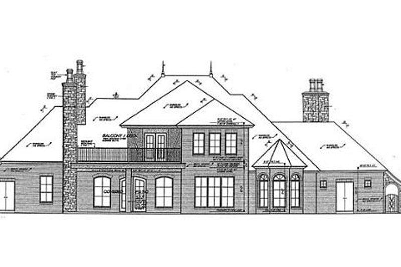European Exterior - Rear Elevation Plan #310-683 - Houseplans.com