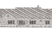 Farmhouse Style House Plan - 4 Beds 2 Baths 2093 Sq/Ft Plan #406-271 Exterior - Rear Elevation
