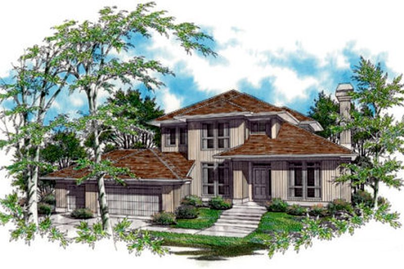 Prairie Exterior - Front Elevation Plan #48-324