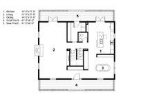 Colonial Floor Plan - Main Floor Plan Plan #497-49