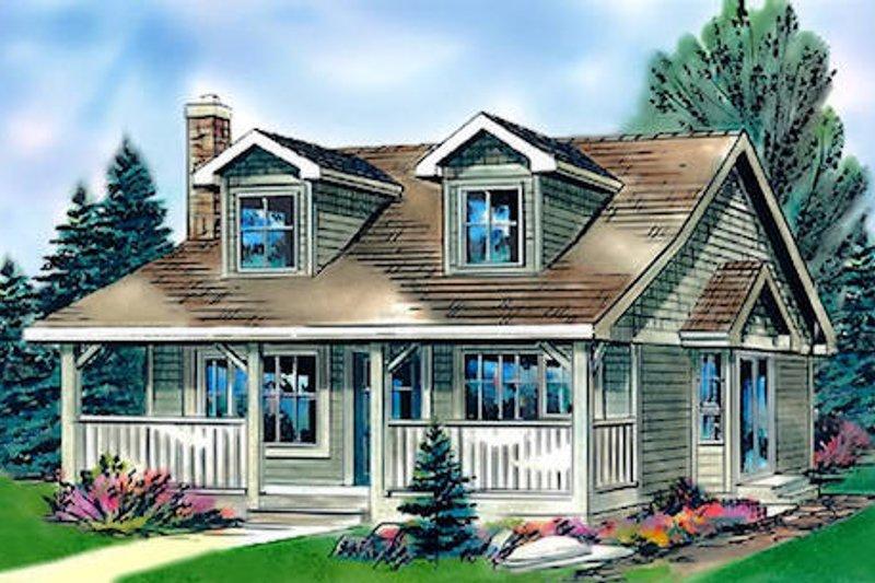 Architectural House Design - Cottage Exterior - Front Elevation Plan #18-1043
