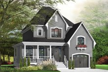 Dream House Plan - Farmhouse Exterior - Front Elevation Plan #23-807