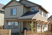 Craftsman Style House Plan - 3 Beds 2.5 Baths 1406 Sq/Ft Plan #434-19 Exterior - Front Elevation